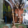 Interior de una maquina templadora