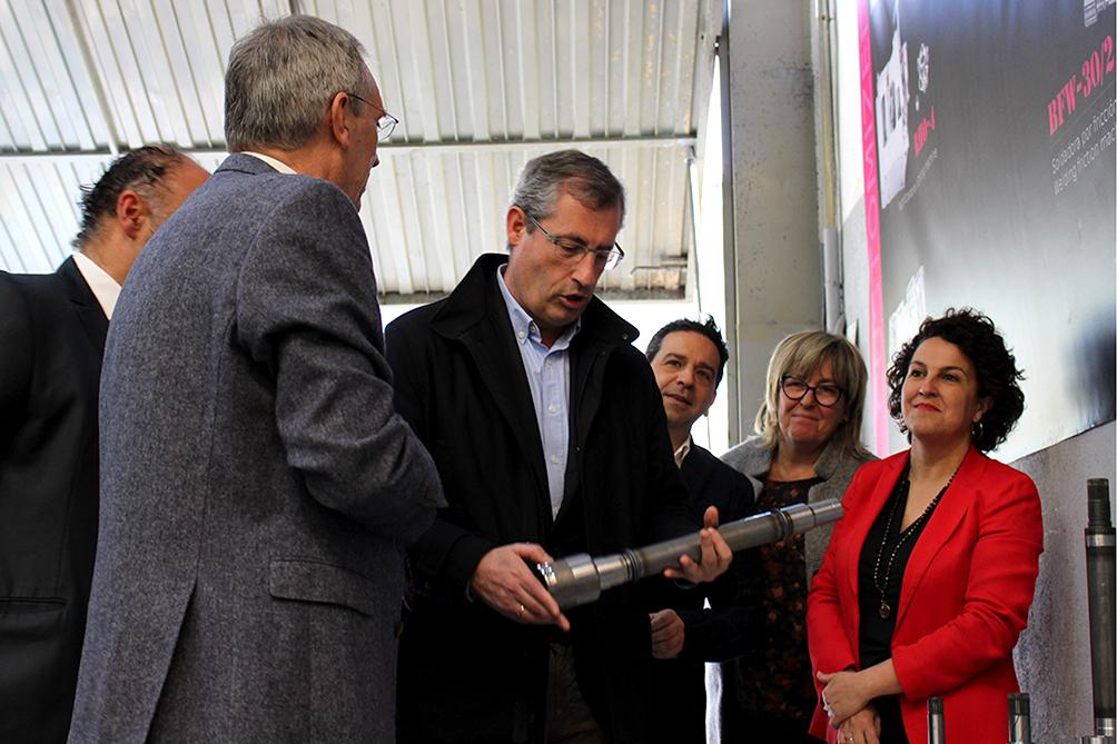 Markel Olano visita Berkoa Machine Tools